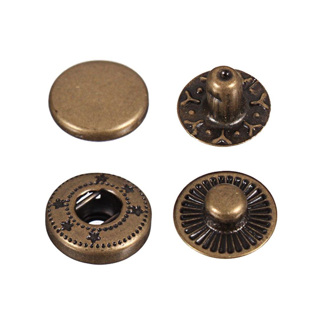 Botón de presión sin botones AIMA 15X 17mm para color bronce