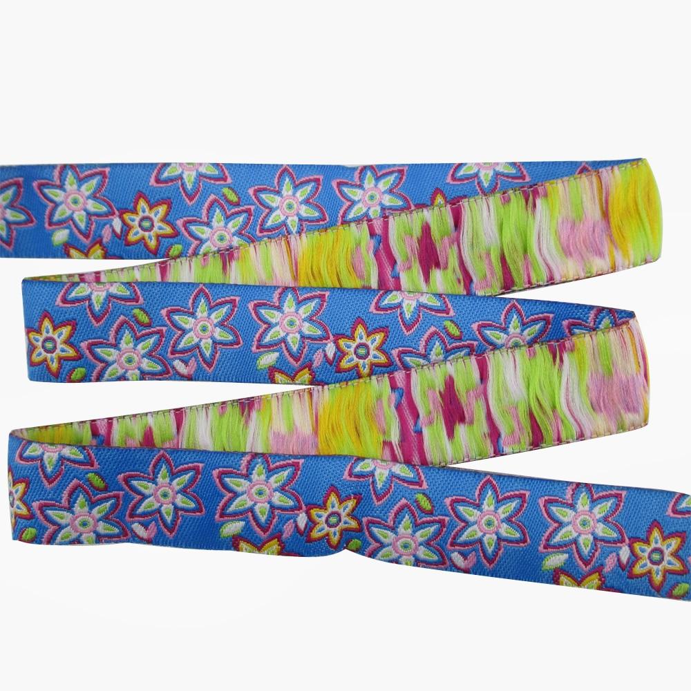 Accesorios David starfish, cadena para perro con lazo Jacquard tejido elegante de color de flor ancha, accesorios para Collar de perro, 10Yc2343