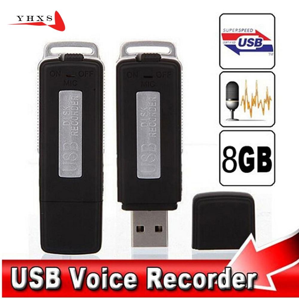 16GB Metall Digital Voice Recorder Stimme Aktiviert USB Stift Stick Voice Aufnahme mit Zwei Slots für PC Xiaom Android smartphone