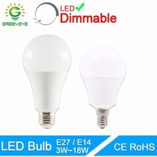 Greeneye Led Lamp Dimbare Lampen E27 E14 220V 240V Gloeilamp Smart Ic Real Power 20W 18W 15W 12W 9W 5W 3W Lampada Led Bombilla