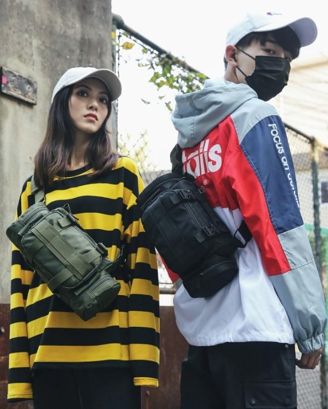 Nuevo kanye calle ins caliente estilo pecho plataforma táctica militar bolsa de pecho paquete funcional trendsetter popular, de moda Prechest