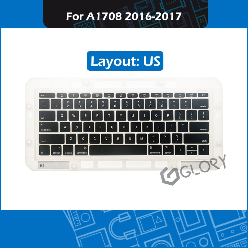 """Nuevo portátil A1708 Keycaps Disposición de EE. UU. Para Macbook Pro Retina 13 """"A1708 teclado tecla cap reemplazo Late 2016 Mid 2017"""