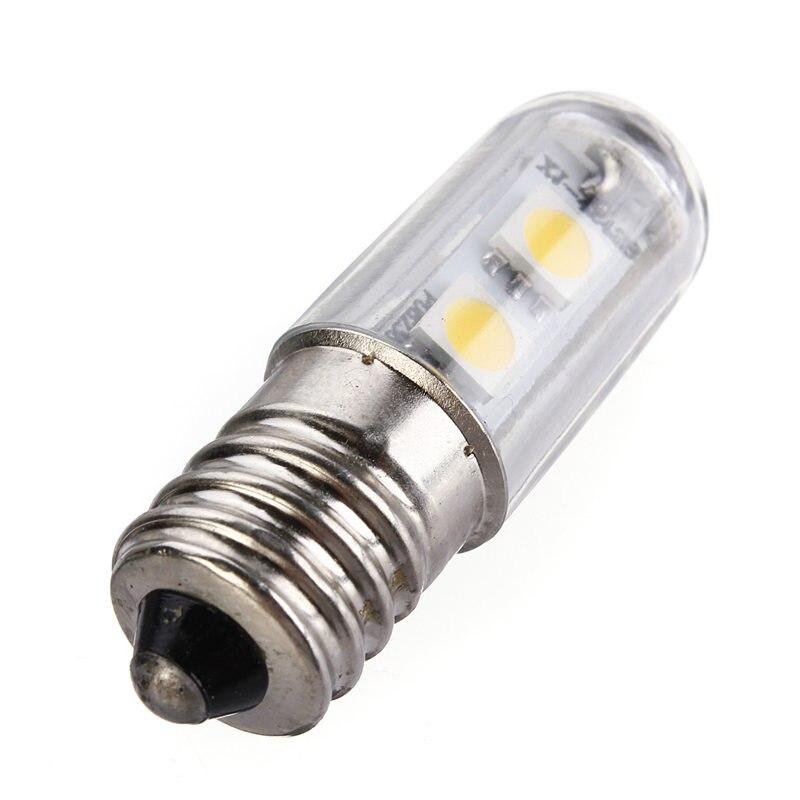 הנורה LED E14 1 W 5050SMD 7led אורות תירס מקרר מנורת נר אור חיסכון באנרגיה הנורה זרקור לבן חם לבן 220-240 V