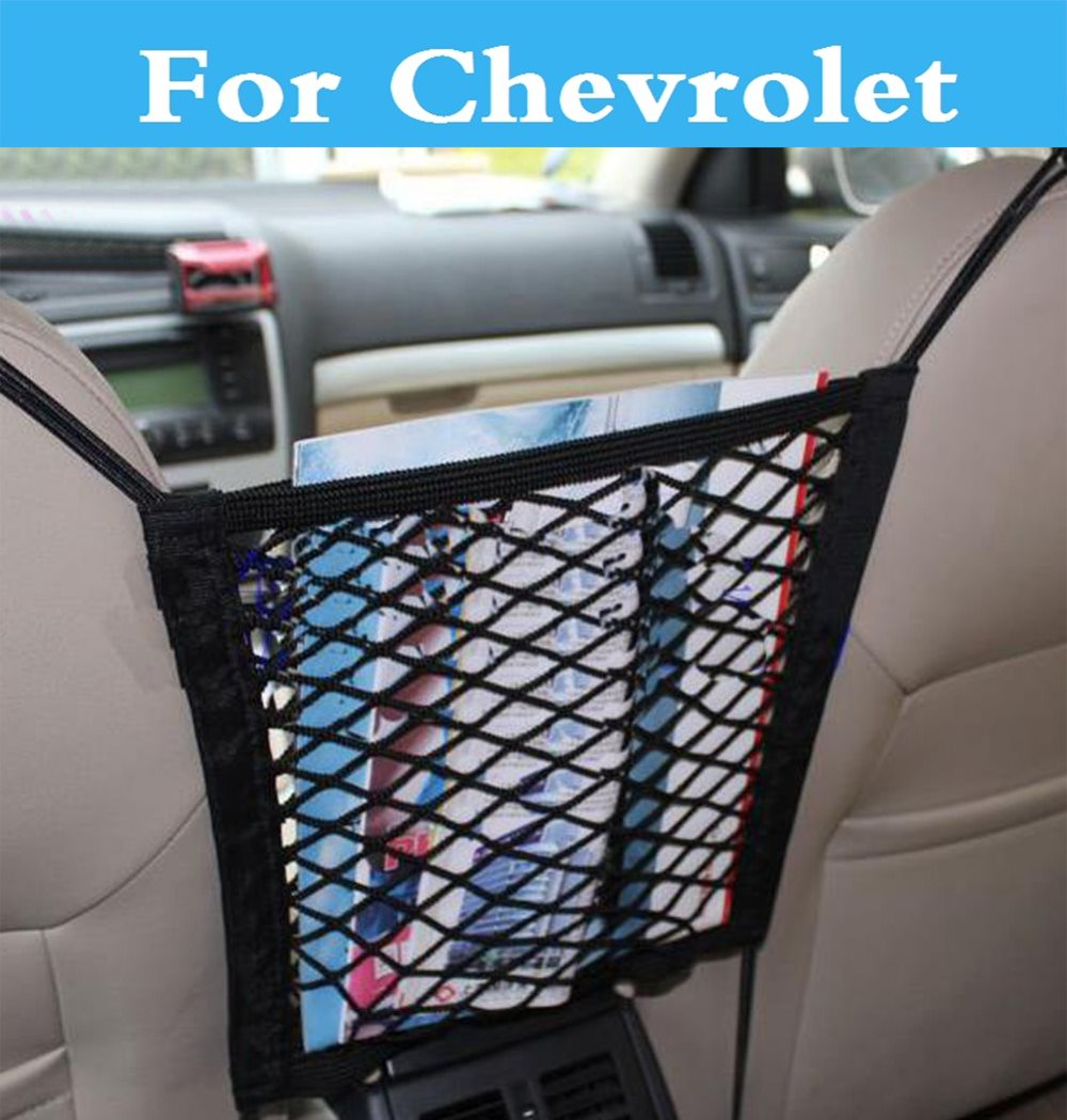 Bonita bolsa de red de almacenaje para asiento trasero de coche organizador de red para Chevrolet Trailblazer Traverse Viva Volt SS suburbano Tahoe Tracker