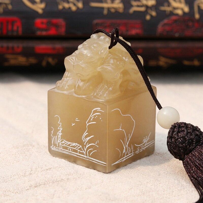 Libremente tallado, sello de caligrafía china, sello de pintura china, sello de piedra, sello de nombre 3*3*4cm