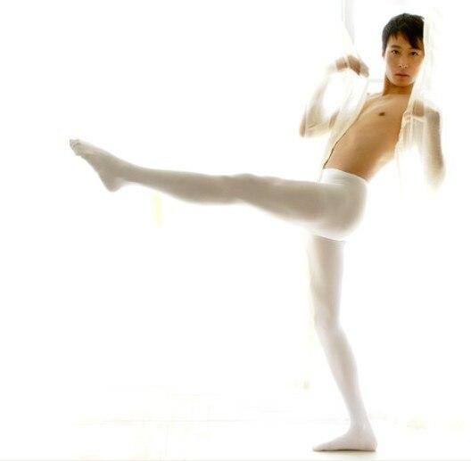 Men Velvet Sexy stockings white tights male stockings male thickening 120D  tights stockings underwear men