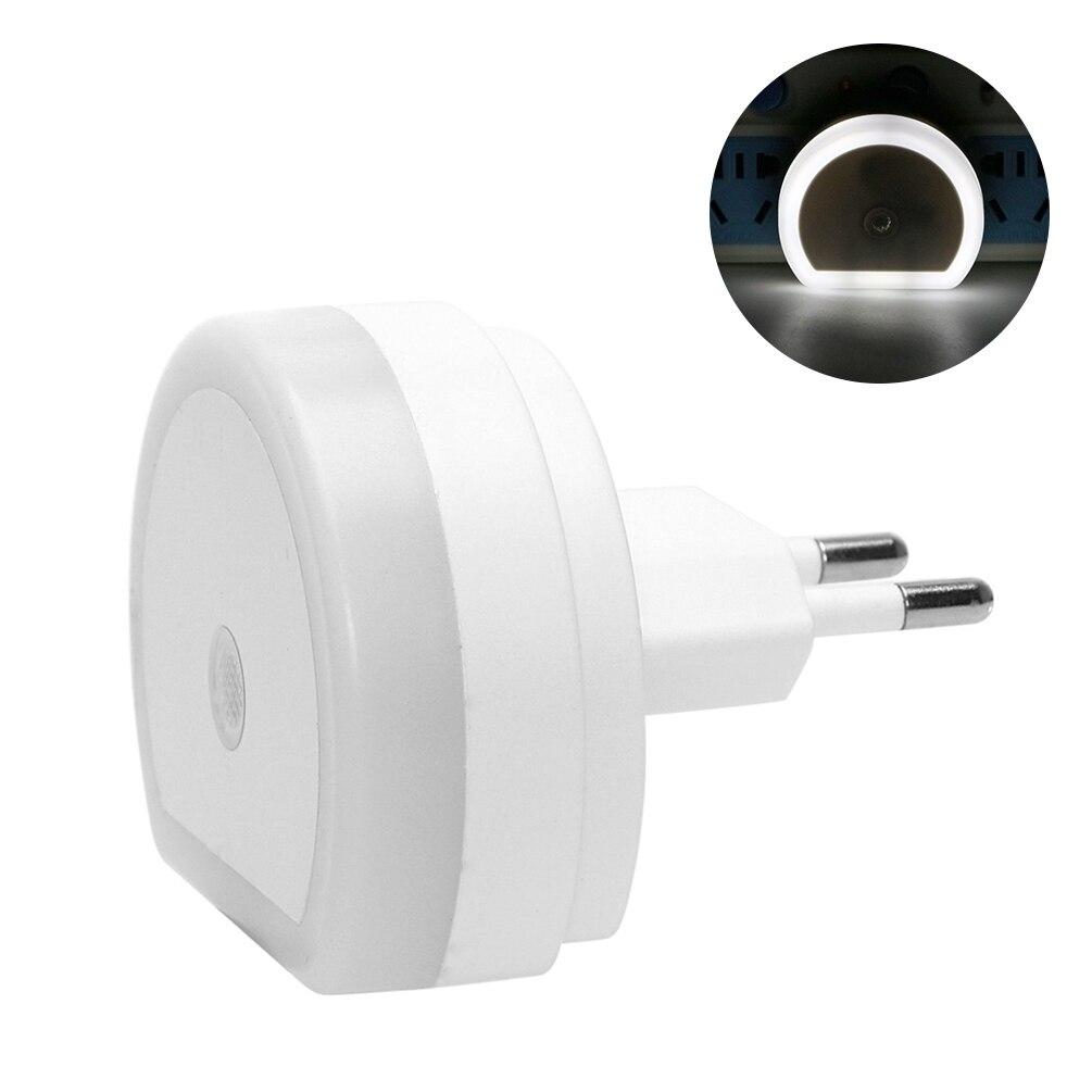 Luz LED nocturna LEDGLE con puerto USB Dual 5V 1A Sensor de luz Control habitación iluminación del hogar lámpara de pared enchufable lámpara EU/enchufe EE.UU.