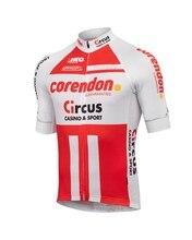 2019 CORENDON CIRCUS TEAM 2 colores Jersey de Ciclismo único para hombres Ropa de bicicleta de manga corta de secado rápido bicicleta Ropa Ciclismo