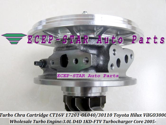 Envío Gratis cartucho Turbo CHRA CT16V 17201-0L040 17201-30101, 17201-30100 para TOYOTA HILUX TOYOTA Land Cruiser ViIGO 3000 1KD-FTV 3.0L