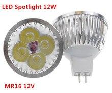 1 pcs/lot haute puissance éclairage MR16 12 V 12 W Dimmable LED lampe de projecteur ampoule chaude/pure/cool lumière LED blanche