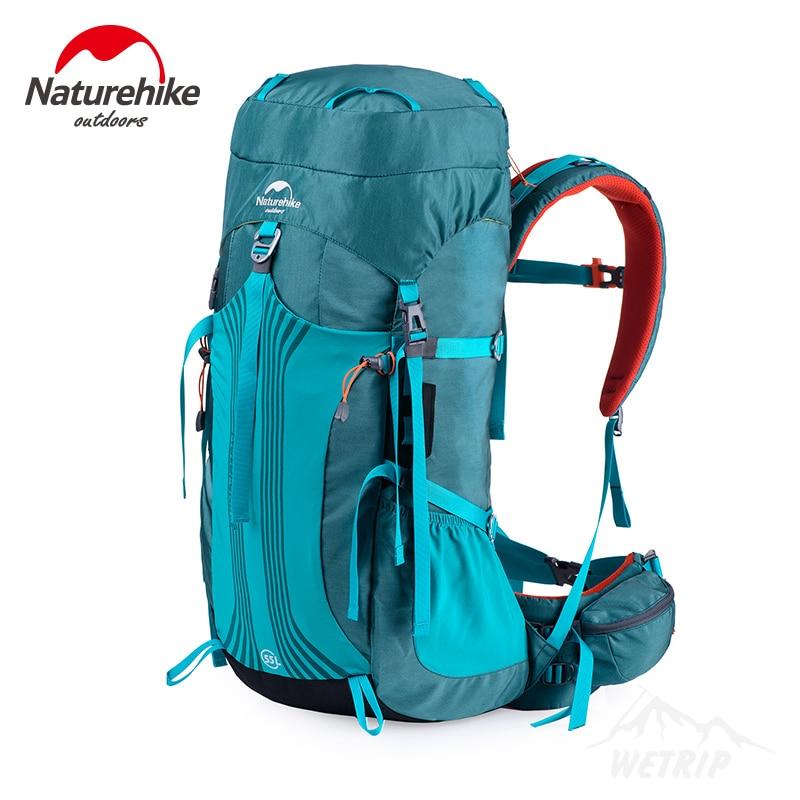 NatureHike Outdoor camping Bag 65L 55L Men Women Hiking Climbing rucksack CR Suspension NH Sport Bags Large Waterproof backpack