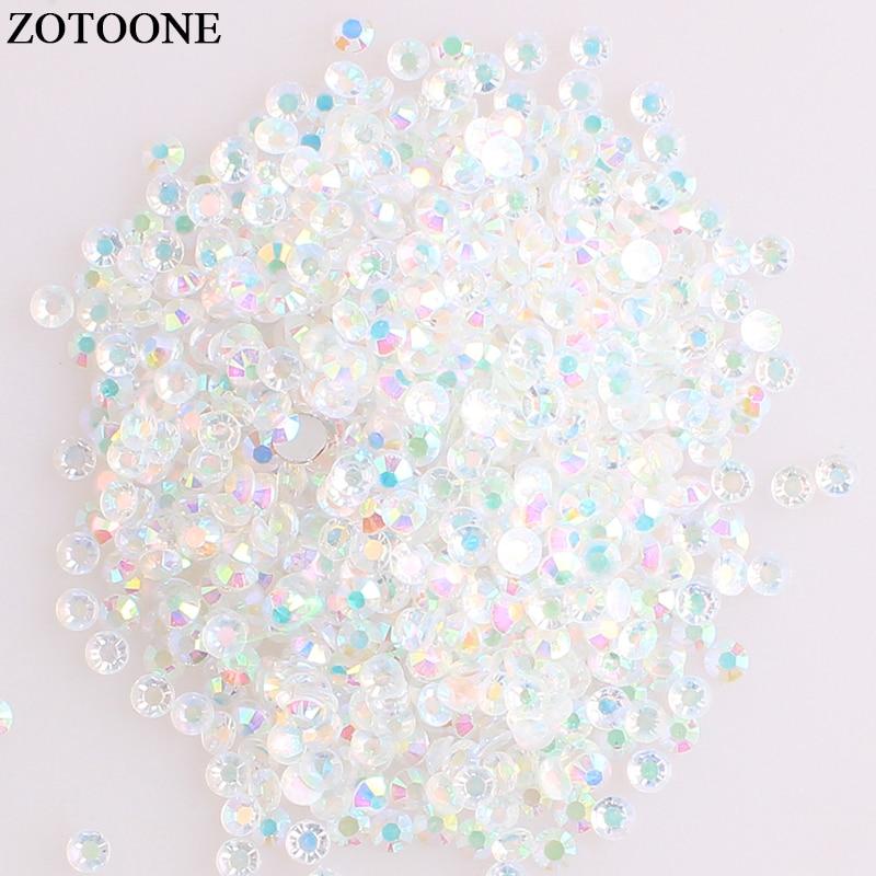 ZOTOOONE SS6 50Pcs Hotfix Crystal Flatback Rhinestones Iron On Crystals Stones Horse Eye Acrylic Strass For DIY Clothes Crafts