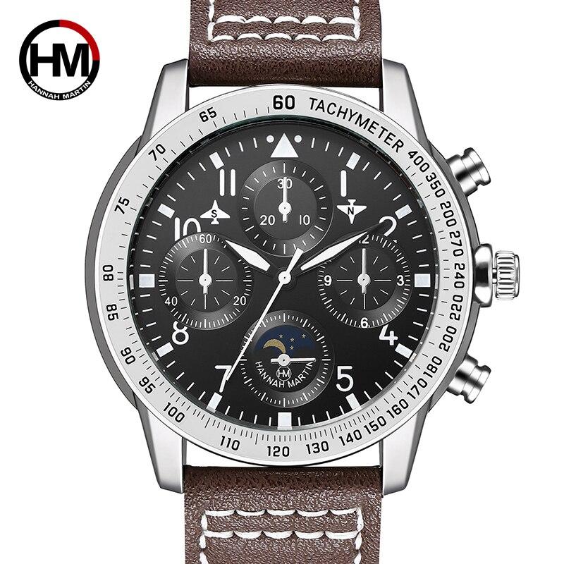 Reloj deportivo a la moda de la famosa marca Hanna Martin, reloj de cuarzo resistente al agua para hombre, reloj militar, reloj masculino