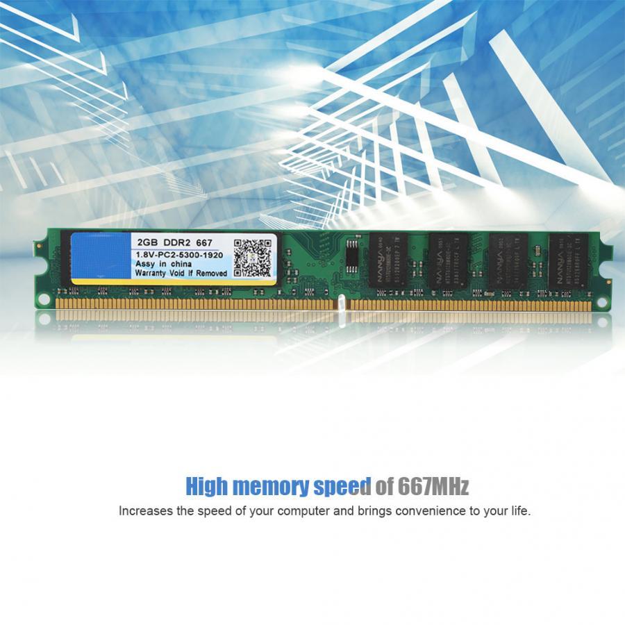 Memoria RAM Xiede 667MHZ 2G 240pin diseñada para DDR2 PC2-5300 ordenador de escritorio para AMD 1,8 V