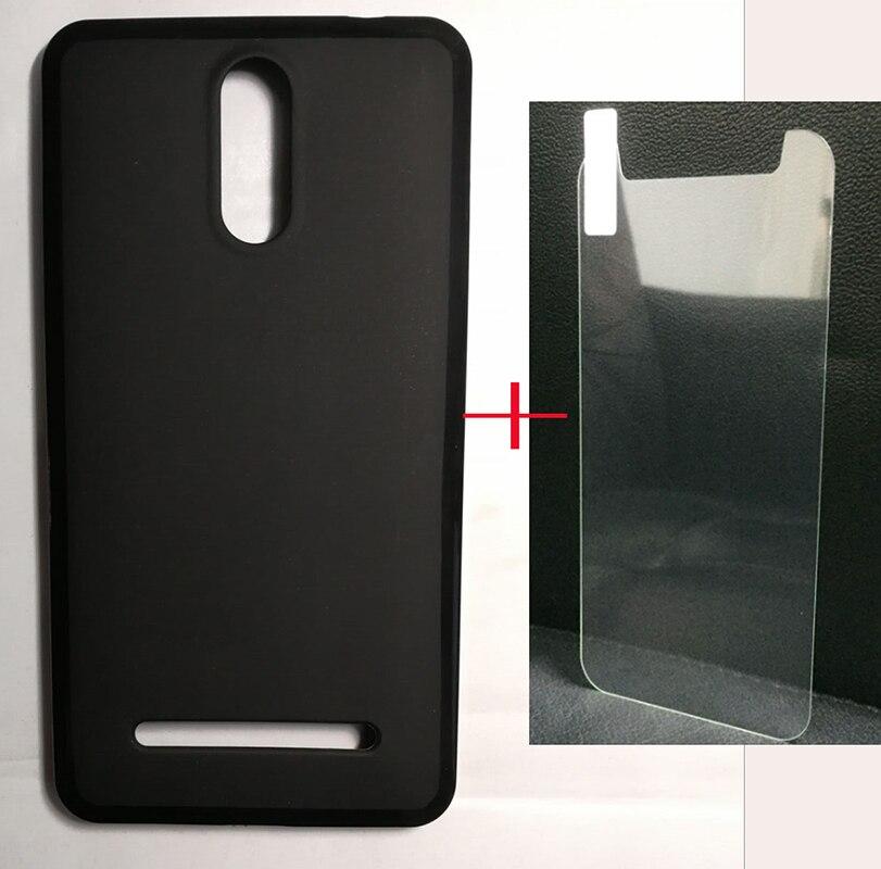 NOVO telefone Para Senseit T300 telefone Vidro Temperado Vidro Protetor De Tela e Caso TPU SmartPhone Frente Cobertura de Tela de Proteção