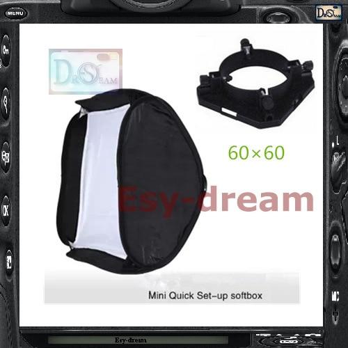 95mm montaje Universal 60*60 foto estudio cuadrado plegable Softbox plegable Quick Set-up caja suave para iluminación estroboscópica Flash PS110