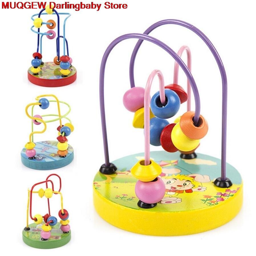 Juguetes Educativos con cuentas de madera para niños, juguetes de inteligencia, bloques educativos de aprendizaje, regalos de juguetes interesantes