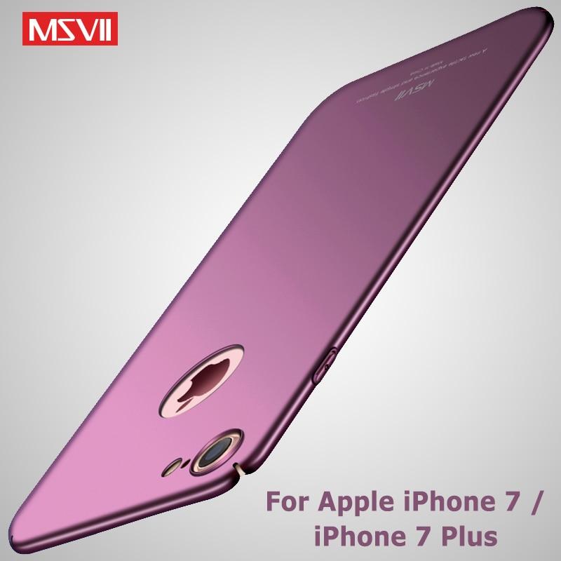Fundas MSVII para iPhone 7, carcasa de lujo mate, Coque para iPhone 8 Plus, carcasa 8 Plus, funda dura de PC para Apple iPhone 7 Plus, fundas