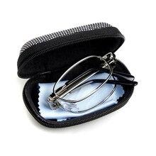 Lunettes de lecture en métal pliantes portables lunettes grossissantes presbytes avec étui 100/150/200/250/300/350/400 degrés