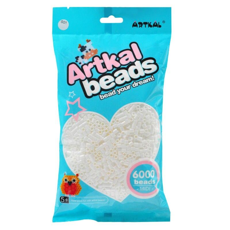 Artkal cuentas Midi de colores grises DIY pixel perler Beads 6000 unids/bolsa regalo hecho a mano divertido