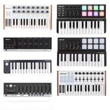 Worled venda quente midi teclado controlador mini usb teclado midi controle midi controlador teclado almofadas 7 estilos para a opção