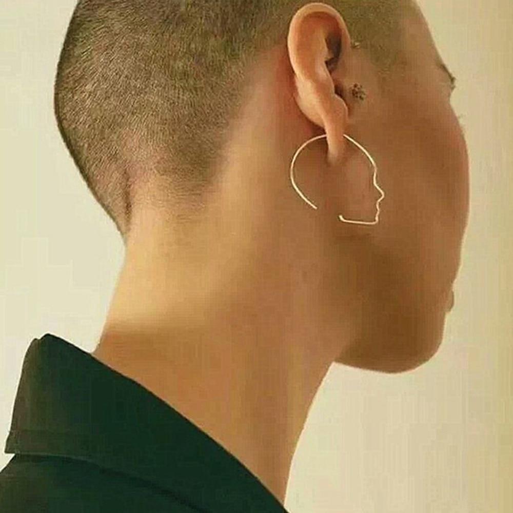 Trendy Gold Farbe Glatte Gesicht Geformt Ohrring für Frauen Neue Mode Legierung Persönlichkeit Ohrringe Modeschmuck brinco JJAL E579