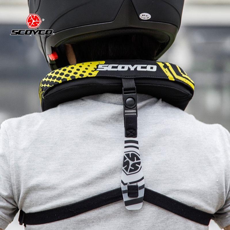 Protección de cuello de motocicleta SCOYCO N02B, protección de cuello para Motocross