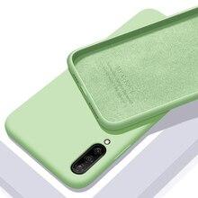 Pour xiaomi mi A3 étui souple liquide Silicone mince peau Coque de protection arrière étui pour xiaomi mi a3 lite a3lite Coque de téléphone