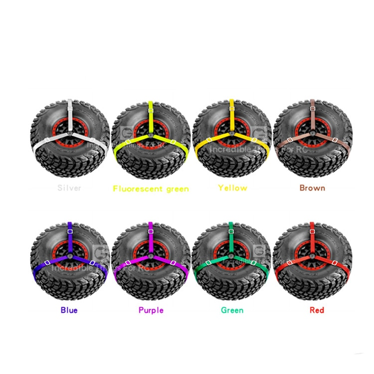 Pieza de coche RC 3 puntos de repuesto correa de amarre decoración de neumático correa de cuerda para 1/10 Traxxas TRX-4 UDR Axial 90050