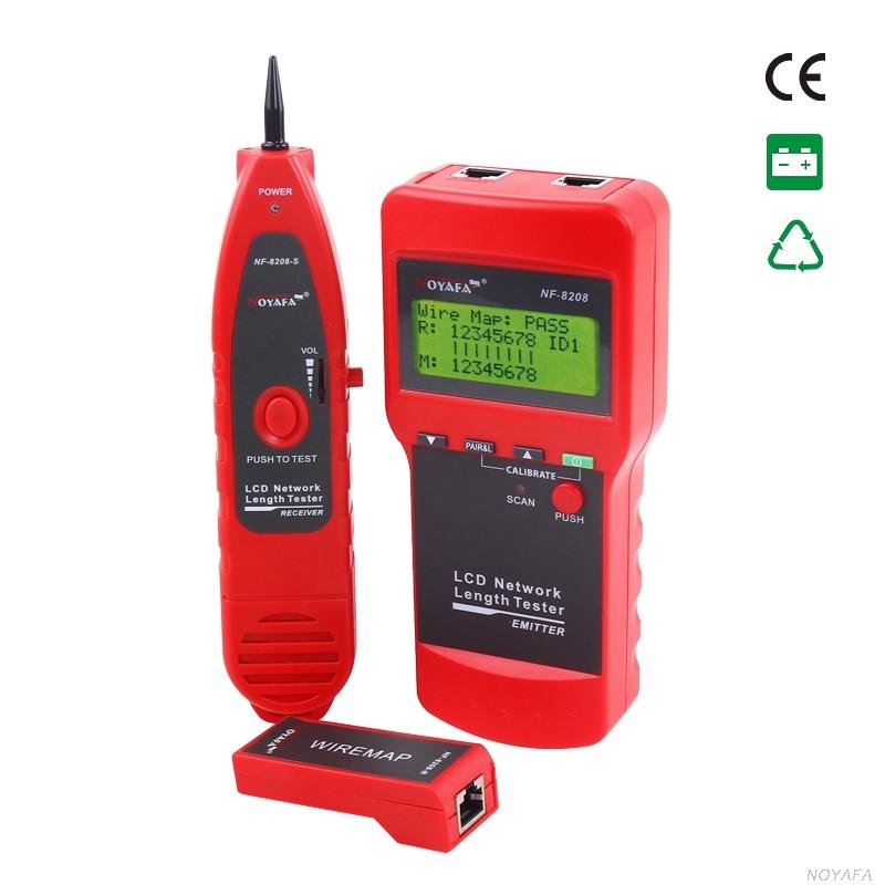 NOYAFA NF 8208 сети LAN Кабельный тестер ЖК дисплей провода трекер Tracer Сканер длины