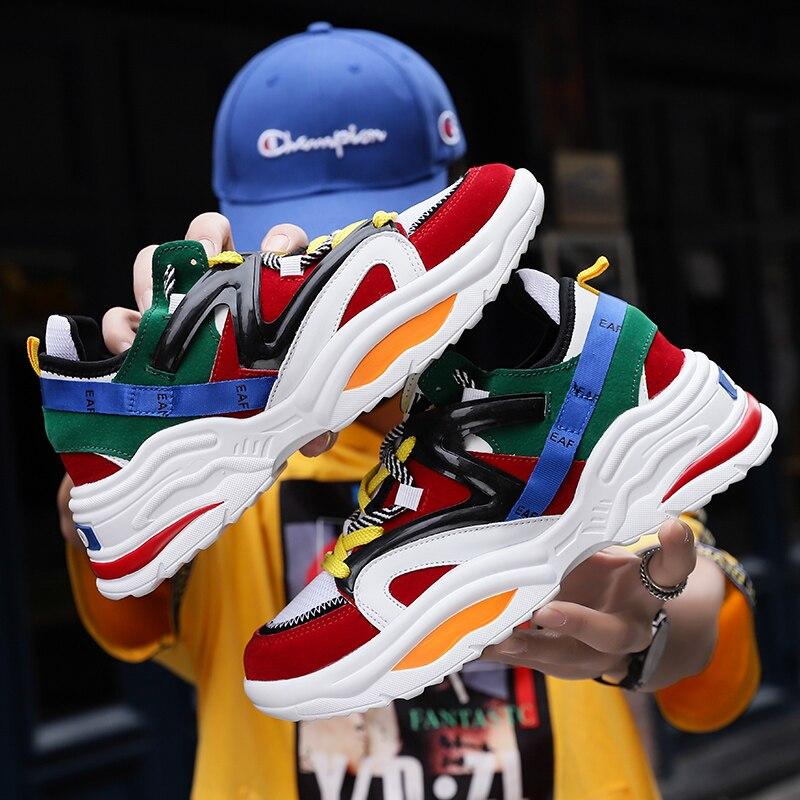 Vintage para Homens Casuais e Confortáveis Tênis Masculino Adulto Respirável Sapatos Outono 2021