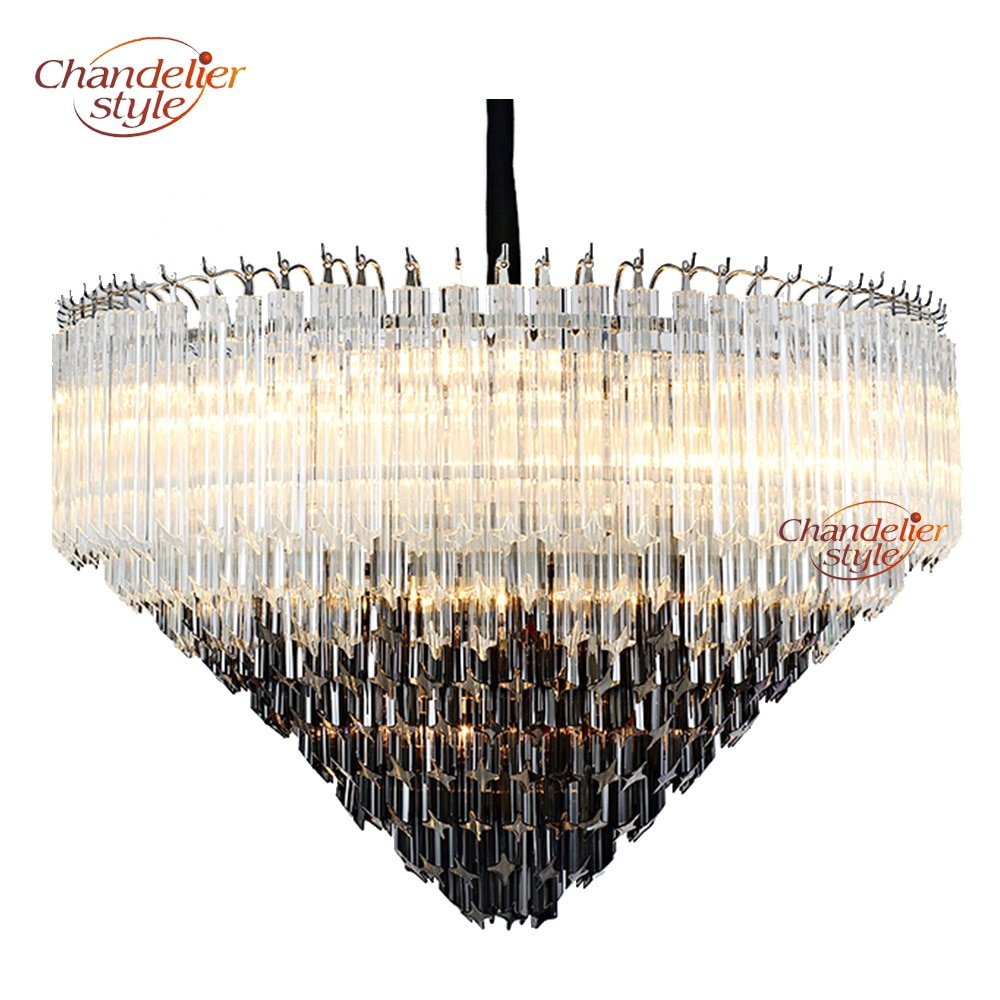 Modern Murano Glass Prism Chandelier Lighting Luxury Chandelier Glass Hanging Light Fixture for Home Hotel Restaurant Decoration  - buy with discount