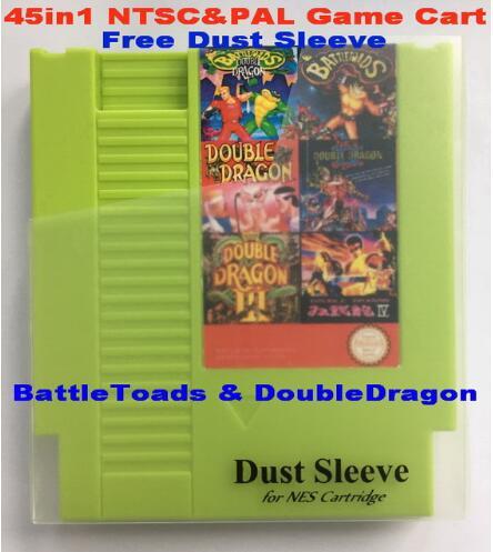 Набор для игр BattleToads & DoubleDragon 45в1 NTSC & PAL, 72 Pins для игр на картах