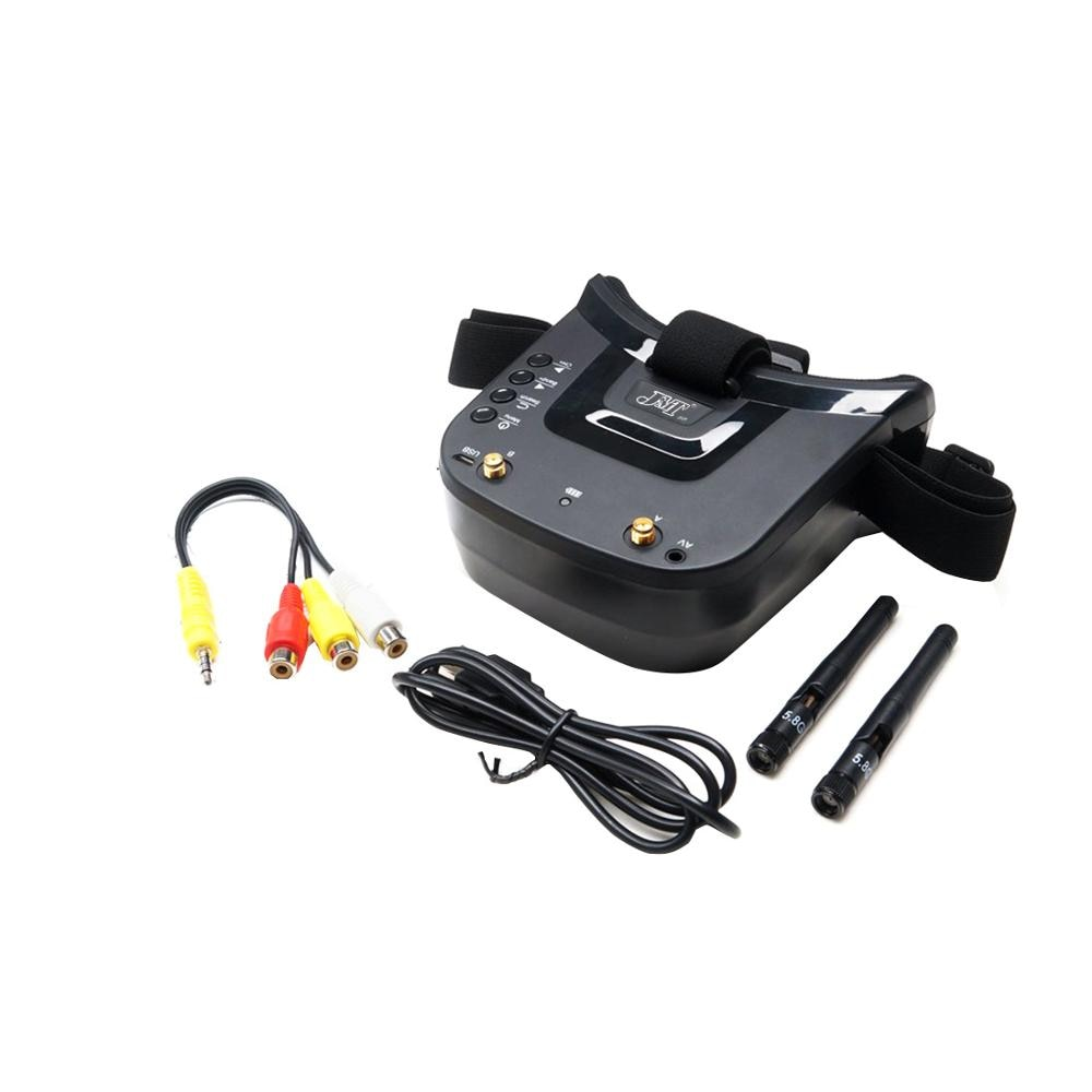 JMT LST-009 5.8G 40CH Dual Antennas FPV Goggles Monitor Video Glasses Headset 3 inch 480 X 320 Display for FPV Racing Drone