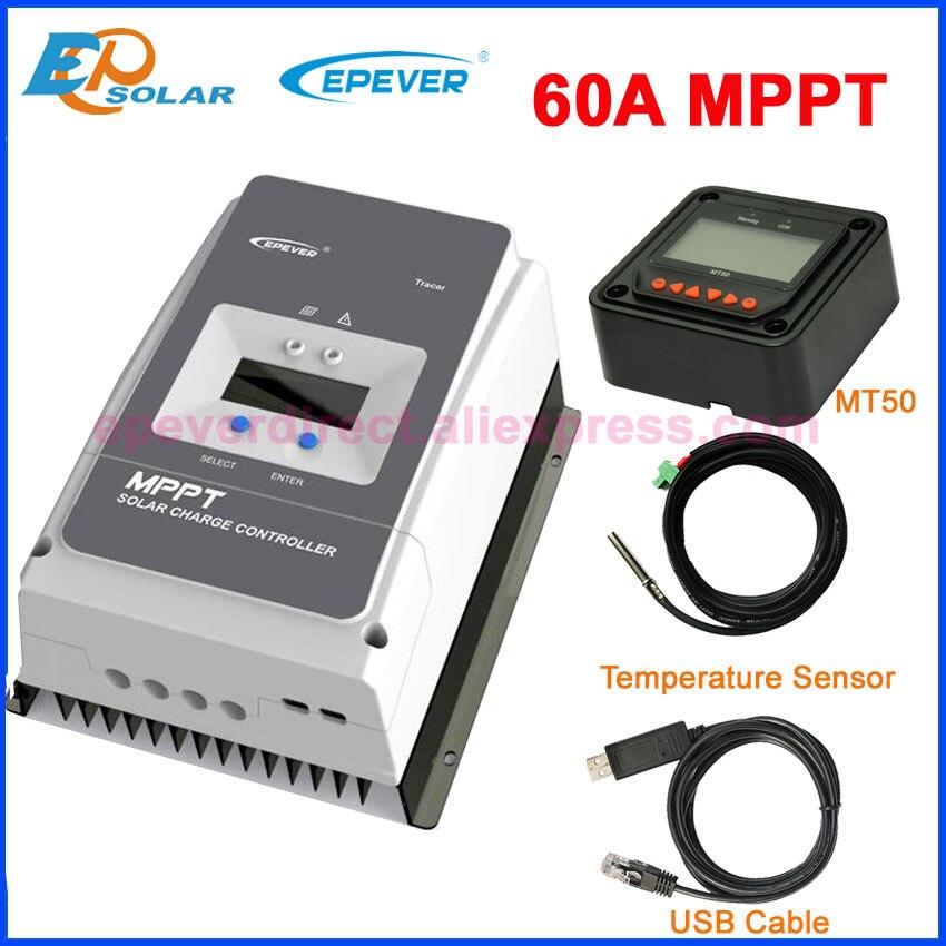 Epever 60a mppt controlador de carga solar regulador para 12 v 24 36 v 48 v dc max pv voc 150v 200v entrada tracer6415an tracer6420an