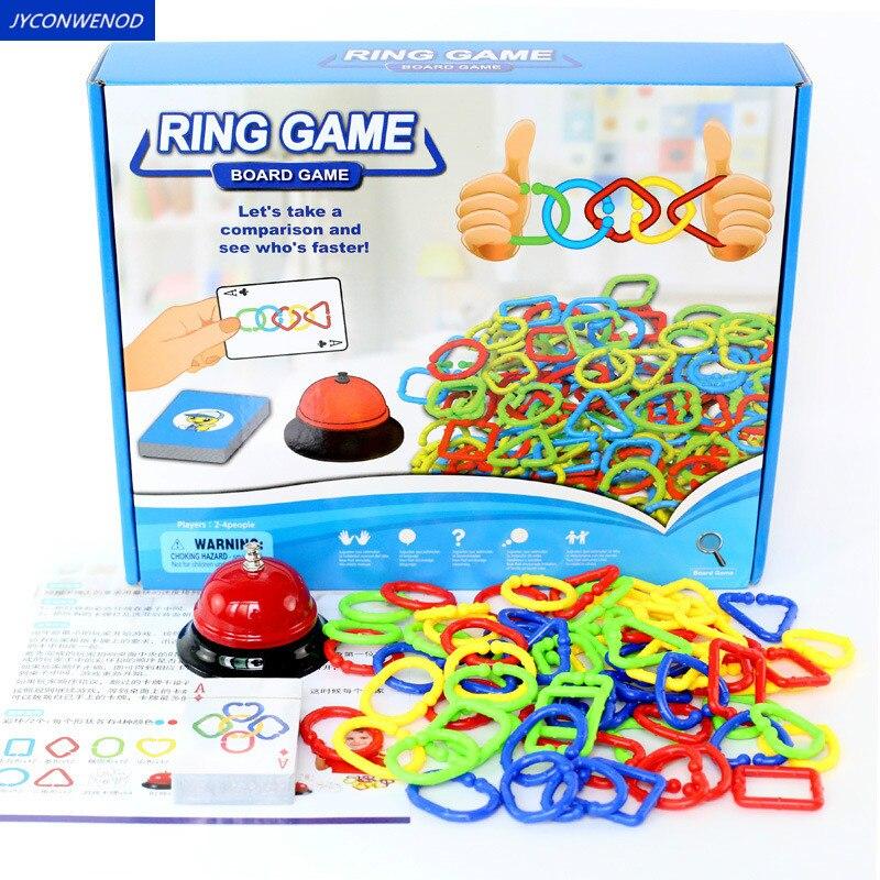 Ring spiel Farbe formen erkenntnis Eltern-kind-Interaktive Party Spiel Brain Teaser bord spiel Entwickeln gehirn pädagogisches spielzeug