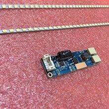 20pcs'19 pouces panneau large LED rétro-éclairage lampes mise à jour CCFL à LED 2x bandes + Driverboard 417mm réglable Kit de luminosité