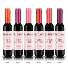 Bouteille de vin rouge teinte à lèvres mate brillant à lèvres imperméable longue durée rouge à lèvres hydratant teinte à lèvres cosmétique liquide rouge à lèvres 6 couleurs