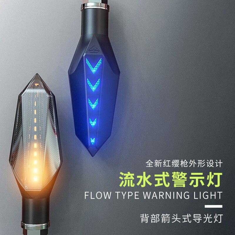 Nueva motocicleta modificado intermitentes impermeable luces de giro LED dirección Lámpara decorativa motocross luces diurnas