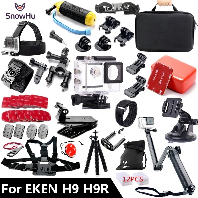 SnowHu for EKEN H9 H9R accessories 3-way Tripod Monopod  kit for EKEN H9 Action camera Original For EKEN H9 accessories GS57