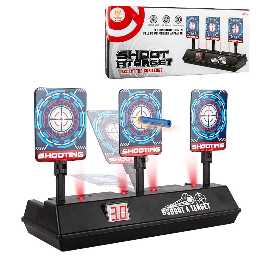 Inteligente Auto-reinicio de puntuación electrónica objetivo para Nerf n-strike Elite/Mega/Rival serie de luz de sonido de puntuación objetivo niños Juguetes