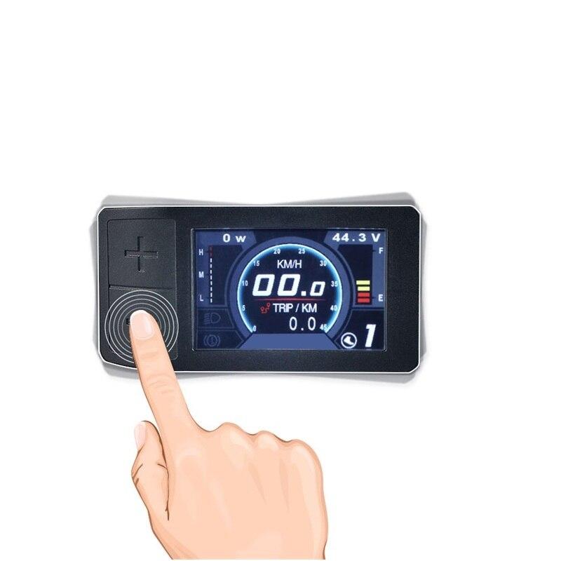 500C Mini pantalla en Color de Bafang manivela Motor medio Kit de conversión de BBS01 BBS02 BBSHD eBike velocímetro controlador