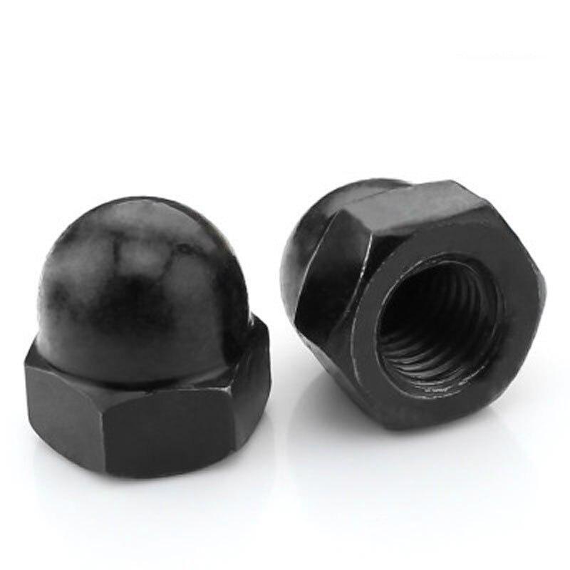 M3/4/5-M12 GB923 tuerca ciega negra, tuerca ciega, tuerca decorativa, tapa de tornillo de bola