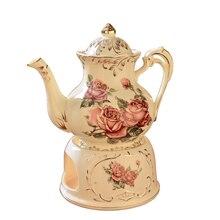 Théière chinoise 900 ml bouilloire à café   Théière chinoise avec base chauffante, utiliser service à thé bougie générale, bouilloire à café thermostat en céramique