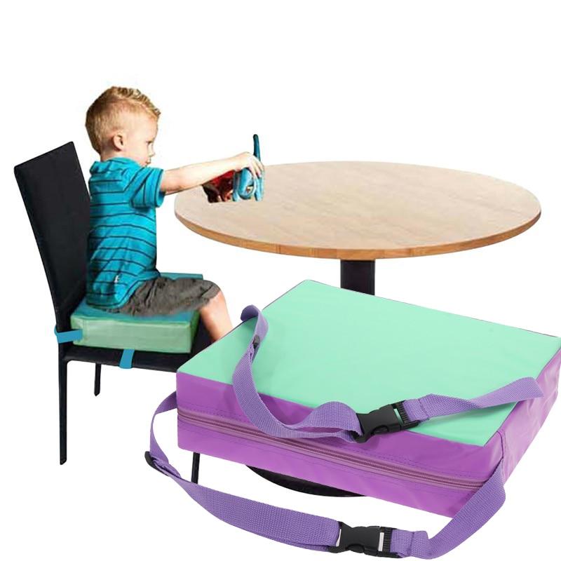 Aumento Da Almofada Cadeira de Jantar Do Bebê Bebê Crianças Almofada Cojines de Chrilren Removível Ajustável Cadeira Coxim do Impulsionador
