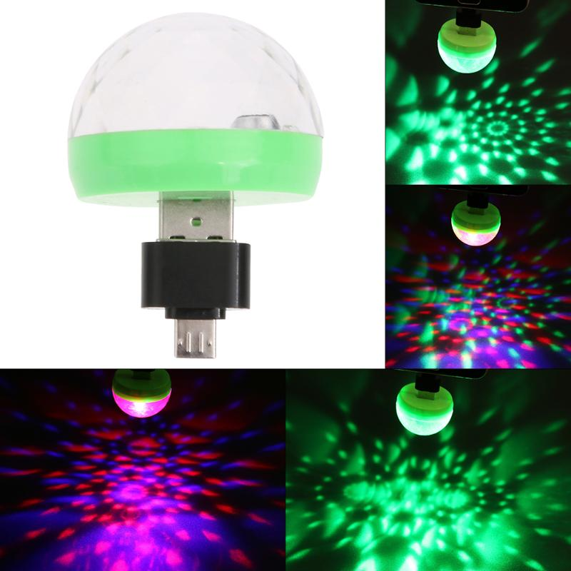 Mini luces led USB para fiesta bola de cristal portátil decoraciones para fiesta en casa Karaoke luz LED colorida de discoteca