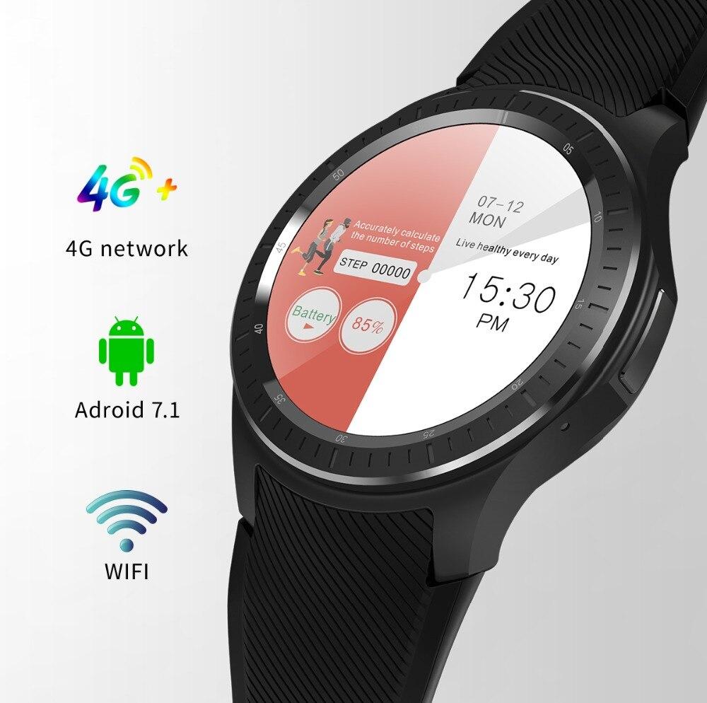 Reloj inteligente Android 1G + 16GB 4G WIFI GPS SIM Bluetooth SmartWatch pulsera podómetro del ritmo cardíaco recordatorio de llamada de pulsera de Fitness