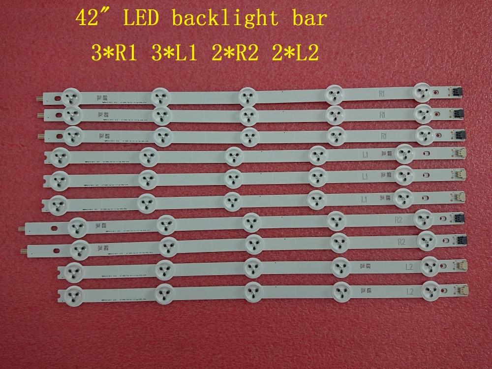 (Nuevo y Original) 10 unids/set tira de LED para iluminación trasera para LG 42LA620S 42LN570S 6916L-1214A 6916L-1215A 6916L-1216A 6916L-1217A