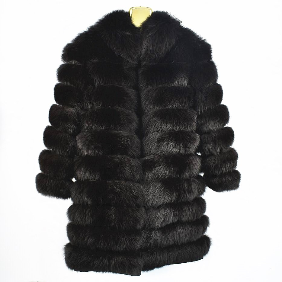 2020ladies new natural fox fur coat sleeves detachable jacket can be long leather fur collar fur collar autumn and winter warm