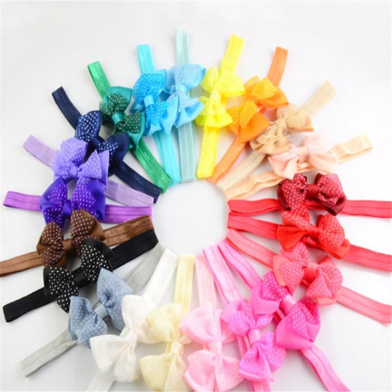 10pcs Mini Bowknot Hairband Baby Kids Girls Elastic Headband birthday gift bow headband baby care Lo